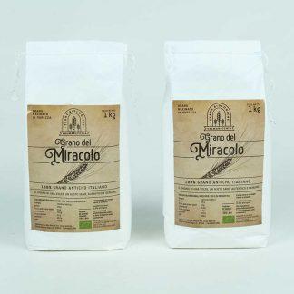 Grano del Miracolo farina tipo 1 grano antico macinata a pietra