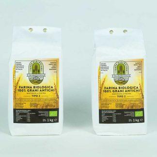 Farina tipo 2 Bio mix grani antichi